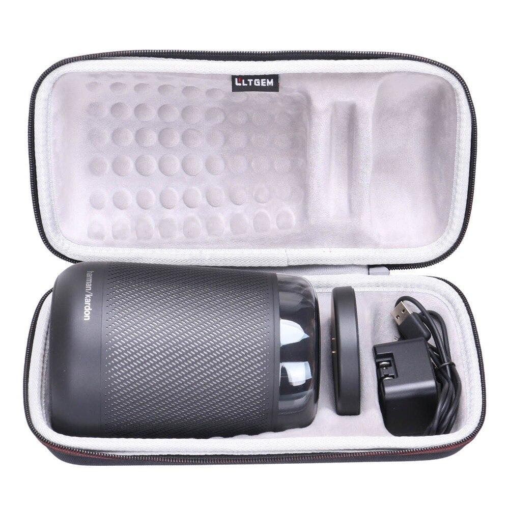 LTGEM EVA Hard Case Fits Harman Kardon Allure Portable Portable Alexa Voice Activated Speaker - Travel Protective Carrying Stora