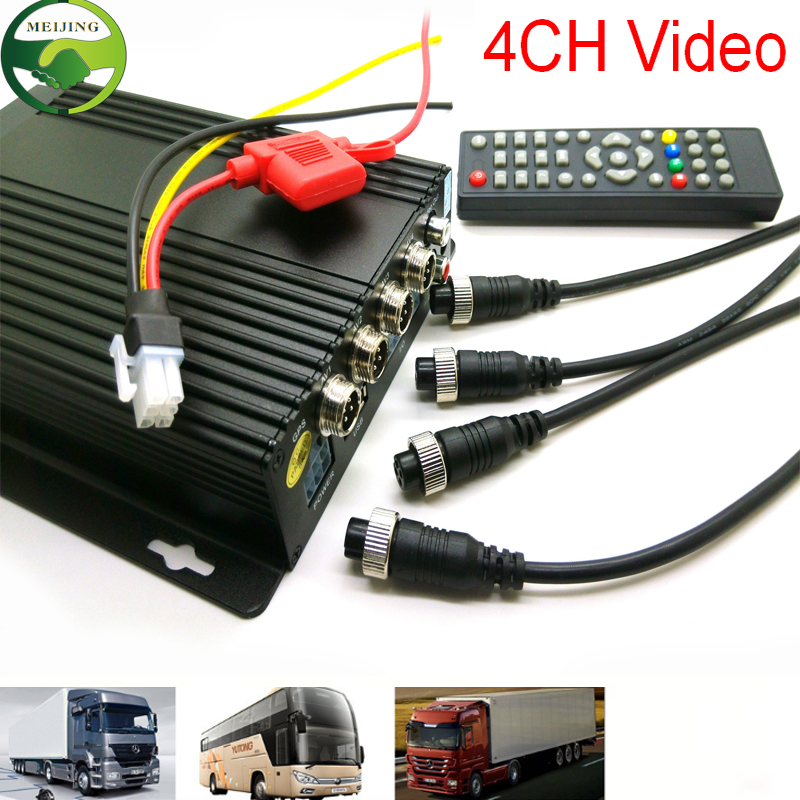 ФОТО 4CH SD Car HGV Vehicle truck for bus truck DVR Cam Dash Video Recorder Cycle Recording CCTV