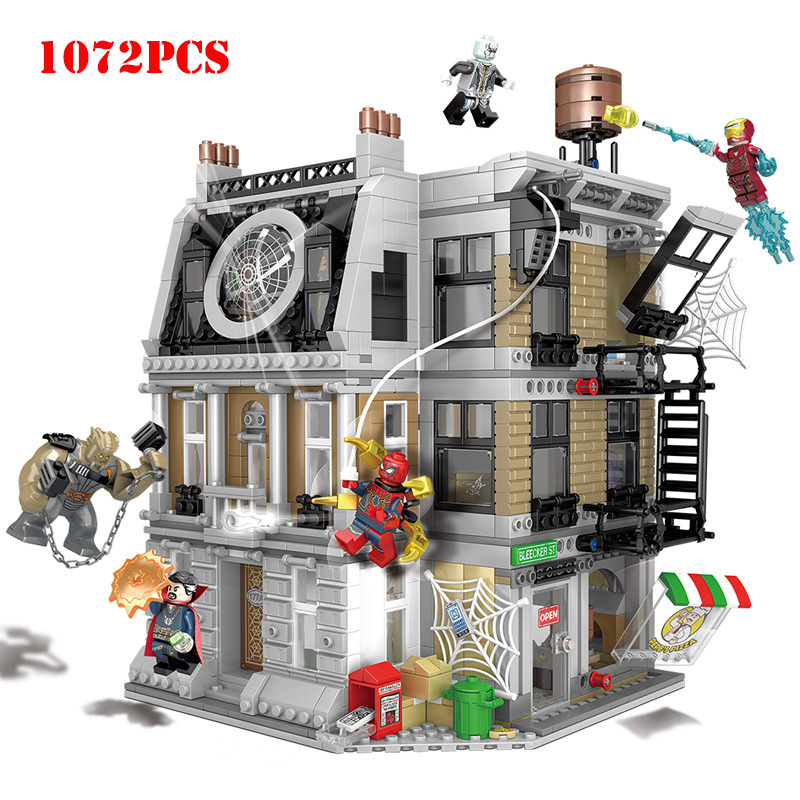 1072pcs Marvel Super Hero Series Sanctum Sanctorum Showdown Building Blocks Compatible Legoing City Technic Brick Toys For Child1072pcs Marvel Super Hero Series Sanctum Sanctorum Showdown Building Blocks Compatible Legoing City Technic Brick Toys For Child