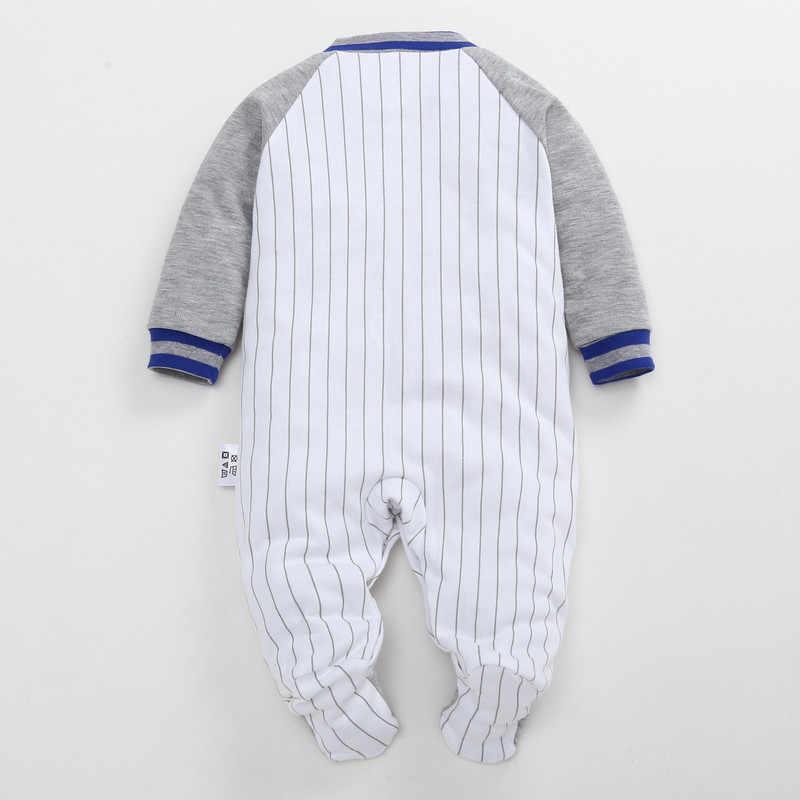 Ropa de bebé recién nacido 3-12 M, pijama con patas para niños, ropa de algodón de primavera para bebés, ropa de Boutique para bebés de dibujos animados, 53G