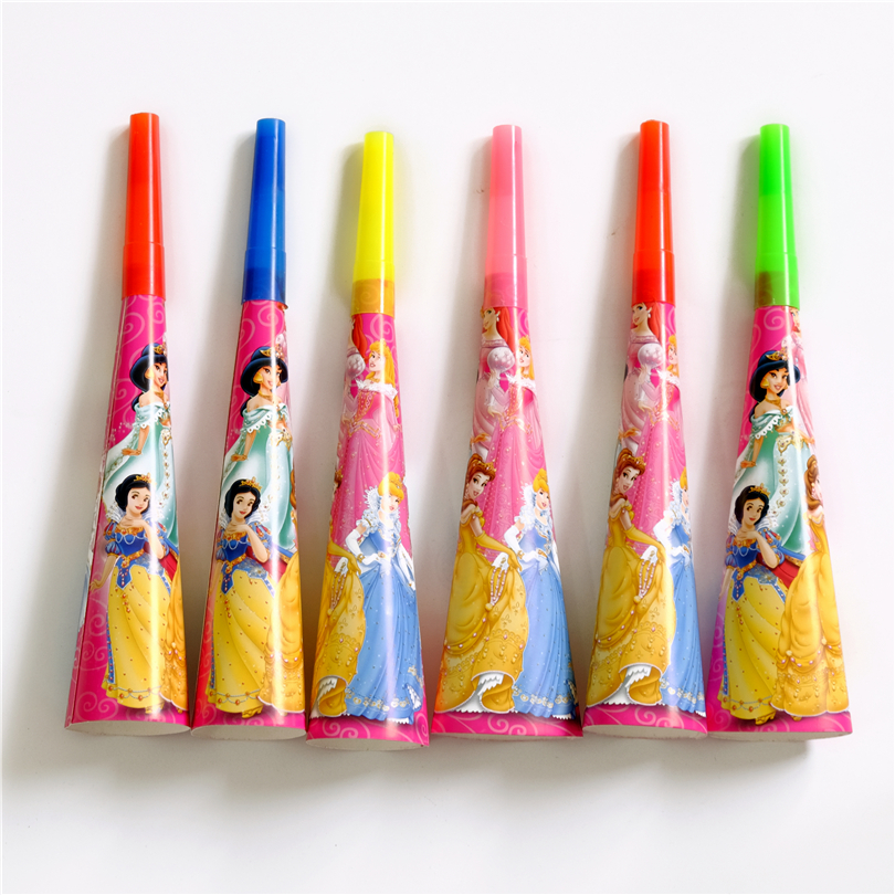 6pcs/lot Horn Trumpet Princess Snow White Bell Kids Birthday party supply event party supplies party decoration Noise Makers
