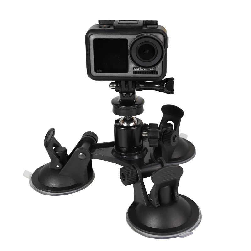 Штатив на присоске для лобового стекла автомобиля для экшн-Камеры GoPro Hero 7 6 5 4 Session Sjcam sj4000 eken H9 Yi 4 K DJI Osmo экшн Камера крепления кронштейна с функцией держателя