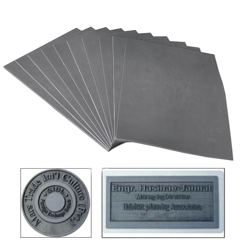 1pc Gray Laser Rubber Sheet Oil Abrasion Resistance Precise Printing Engraving Sealer Stamp A4 Size 297 X 211 X 2.3mm