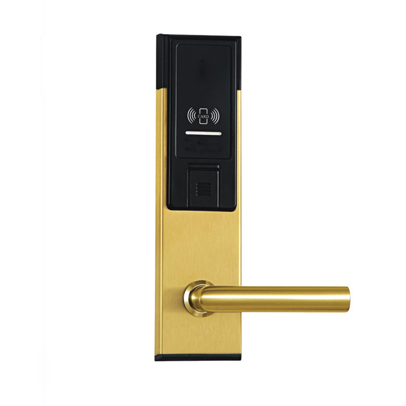 Electronic RFID Card Door Lock with Key Electric Lock For Home Hotel Apartment Office Smart Entry Latch with Deadbolt lkK310SG hotel lock system rfid t5577 hotel lock gold silver zinc alloy forging material sn ca 8037