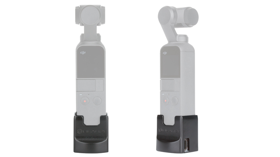 Ulanzi OP2 Gimbal Accessories for Dji Osmo Pocket Vertical Gimbal Base Holder Fixed Mount 1/4 Screw USB Charging Port Type-C 2