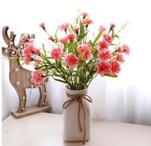 Klonca Natural Handmade Plastic Flower 71cm 1pc/lot Fake Artificial Carnation Home Decoration Wedding Flowers
