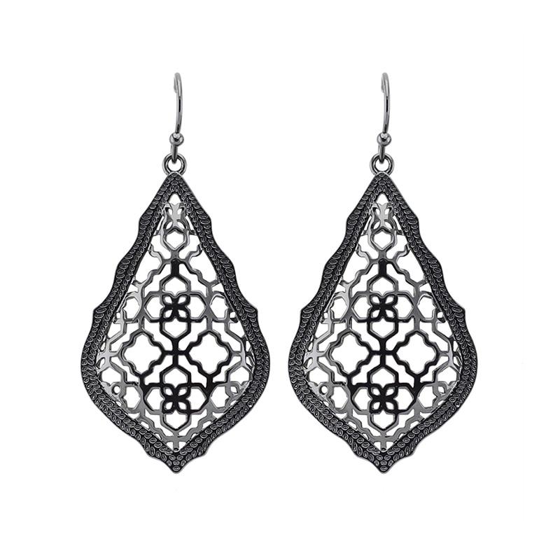 wholesale new trendy ks addie black plated dangle earrings modern jewelry for women wholesale