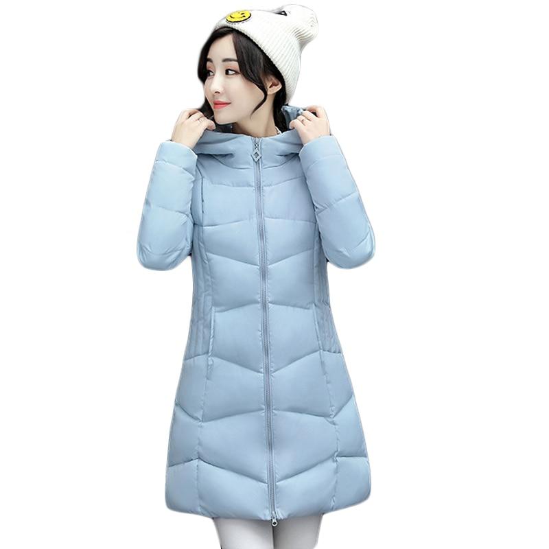 Новая женская зимняя куртка женские хлопковые парки куртки Зимняя куртка с капюшоном Мода для девочек мягкий длинный тонкий пальто плюс Ра...