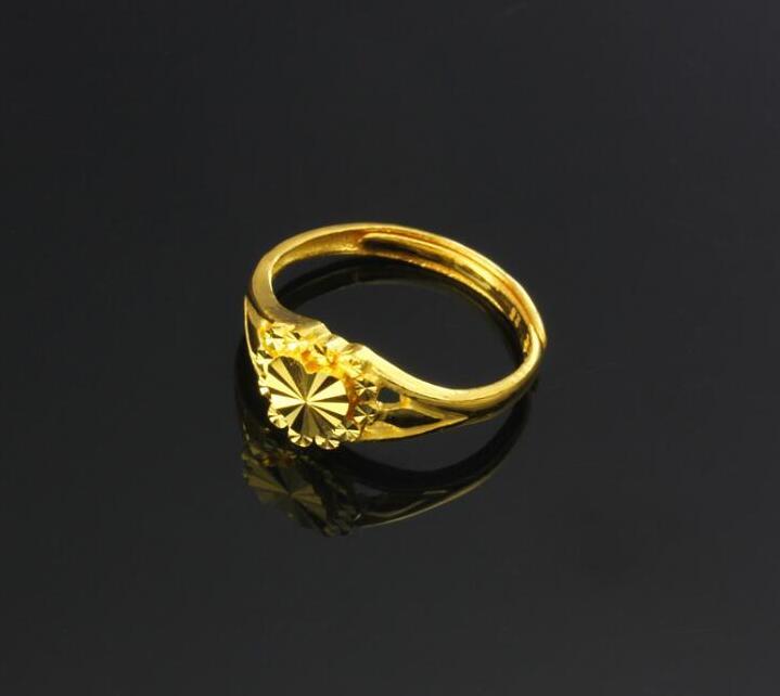 Чистое 24К желтое золото изменяемое кольцо новое дизайнерское кольцо в форме сердца 3,5g Горячая Распродажа - 3