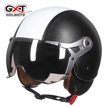 GXT Retro Helmet Motorcycle Biker Motocicleta Capacete Casco Riding Unisex Moto Motorbike Quick Drying ABS Material