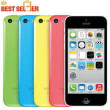 "Iphone 5C 100% Original Unlocked Apple 5C mobile phone LTE 4.0"" Dual Core IOS Multi-Language time-limited Promotion"