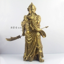 Mammographies knife sabre Copper buddha blue bodhisattva at home Brass decoration tq7494 Brass CHINESE crafts