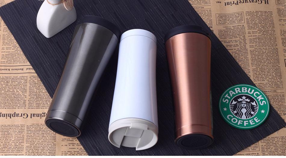 Coffee Steel Mugs 350ml 10