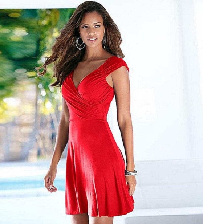 Marke 2018 Sommer Kleid Sexy Casual V-ausschnitt Rot Schwarz Bodycon Kleid Sleeveless Backless Frauen Kleid Schlank Party Kleider Vestidos