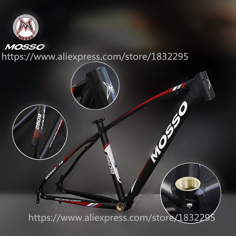 1pcs bike frame MTB authentic MOSSO 2609 aluminium alloy mountain bike 26*16 17 18 inch frame Free shipping hot bike frame mtb authentic mosso 2608 aluminium alloy mountain bike 26 16 17 18 inch frame
