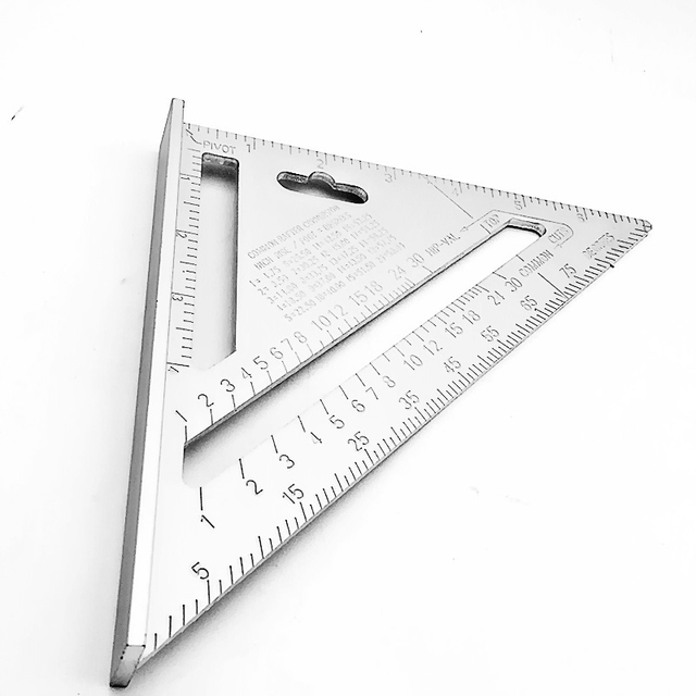 7inch Silver Aluminum Alloy Speed Square Roofing Triangle Angle Protractor  Try Square Carpenteru0027s Measuring Layout Tool Sc 1 St AliExpress.com