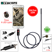 Black 7MM USB Endoscope Camera HD 2In1 Android Camera 2m 5m 10m Pipehole USB Endoskop Inspection