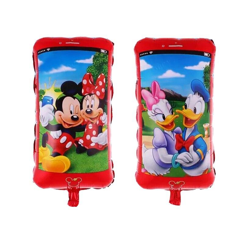 Cartoon Minnie Mickey Duck Foil Balloons classic toys air balls happy Birthday b