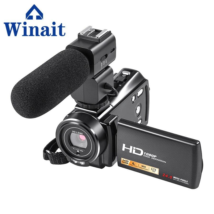 Winait Full HD 1080 P caméra vidéo numérique Mini caméscope numérique avec écran tactile 3 ''caméra vidéo 24 méga Pixels