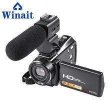 Winait Full HD 1080P Digital Video Camera Mini Digital Camcorder With 3 Touch Screen 24 Mega Pixels Video Camera tanie tanio HDV-V7 Podwójna stabilizacja obrazu 6 000 000 więcej Do użytku domowego Karta SD Cmos 401g-500g 1 2 88 cali DYSK twardy pamięć Flash