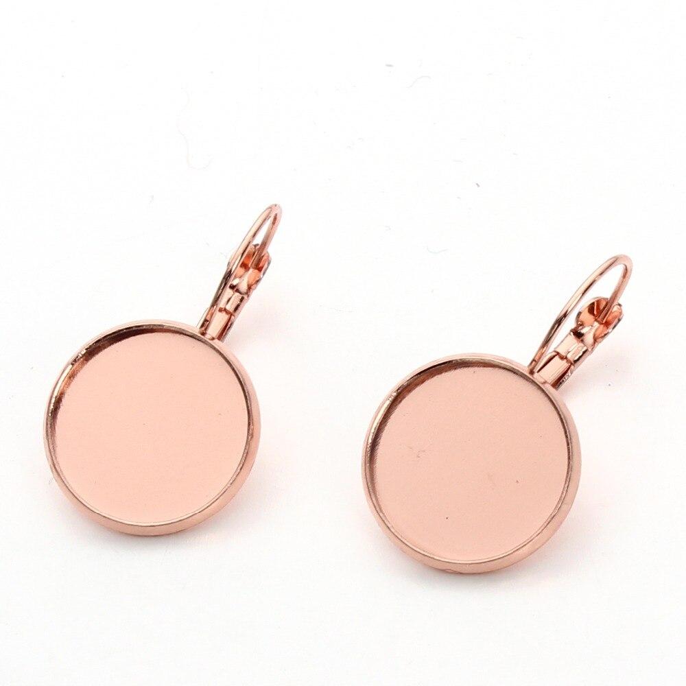 Alta calidad 10 unids 10/12/14/16/18/20mm cobre latón oro rosa color ...
