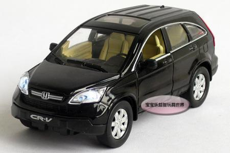 New 1 32 Honda Crv Alloy Cast Model Car With Sound Light Black Toy Collection B222a