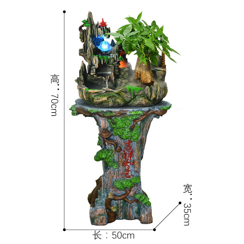 Water Fountain With Pump Small Rockery Crystal Ball Humidification Feng  Shui Decoration Home Decor Indoor Water Fountain Holder In Statues U0026  Sculptures From ...