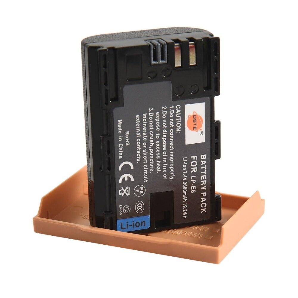 DSTE 20 pcs LP-E6 Batterie pour Canon EOS 5DS R 5D Mark IV 60D 60Da 70D