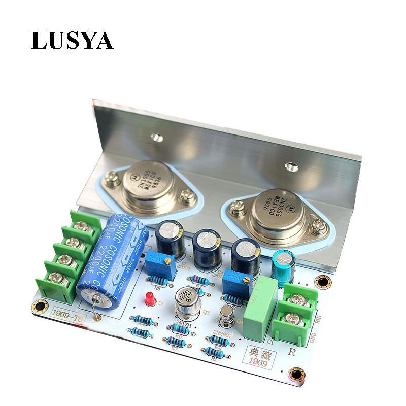 Lusya 1Pcs Diy Kits JLH 1969 Class A Audio Power Amplifier Board High Quality PCB MOT/2N3055 Finished Board T0353