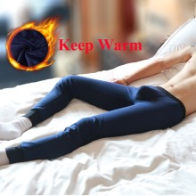 Hot Mens Long Johns Winter Thermal Underwear Pants Cotton Legging Vetement Homme Hiver Velvet Warm Long Leggings For Men