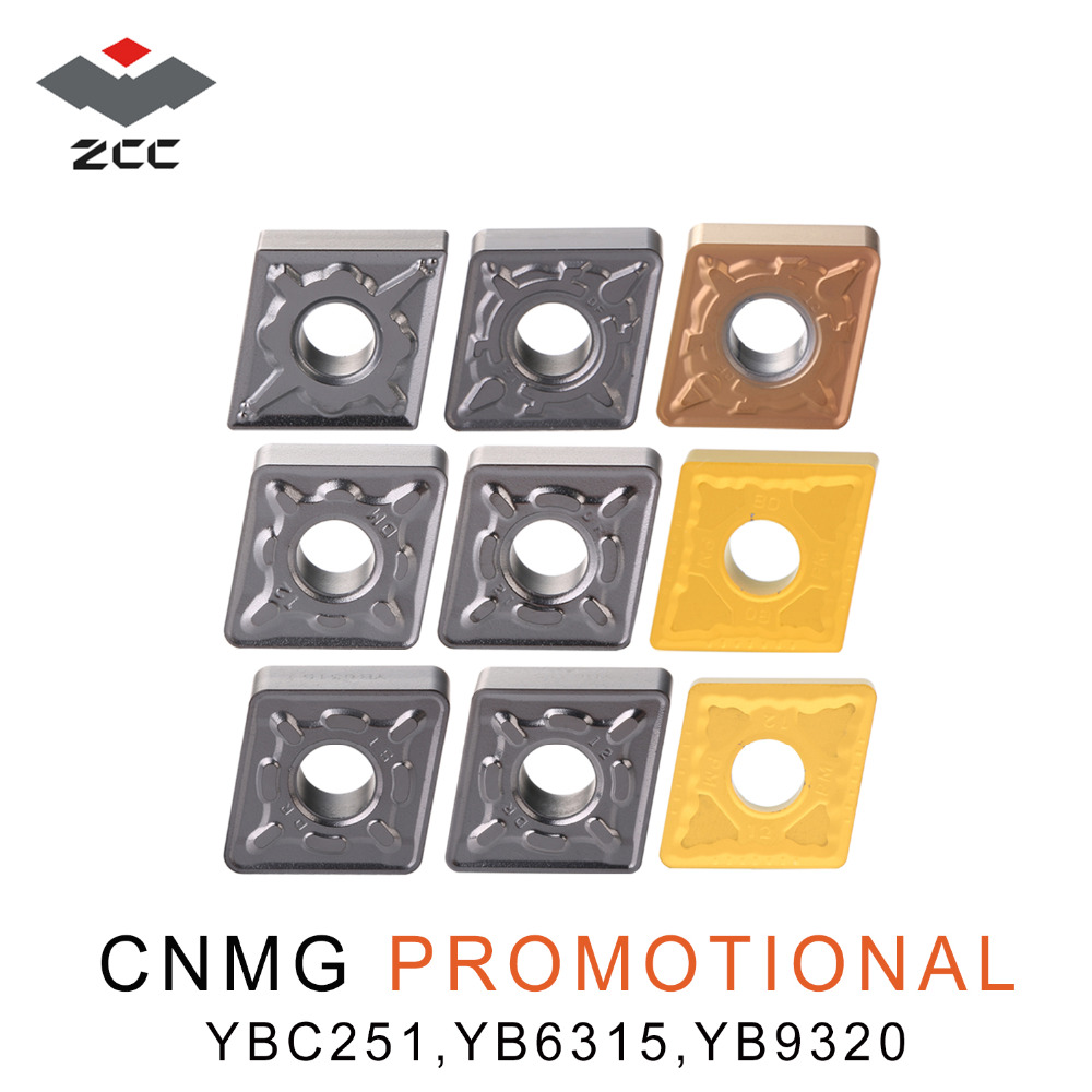 10pcs/lot Promotional Cemented Carbide Inserts CNMG 120408 CNMG120404 CNMG120408 Steel Stainless ZCC Original Cnc Lathe Tools