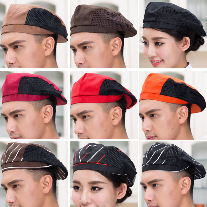 Multicolor Cafe Waiter Hat For Men Coffee Shop Chef Caps Hotel Restaurant Chef Uniform Accessories Hat Waitress Cap 89