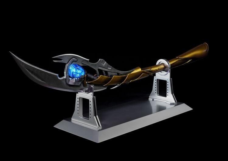 [Metal feito] 1:1 115cm os vingadores 4 metal loki chitauri cetro figura coleção modelo adulto presente cosplay traje festa brinquedos
