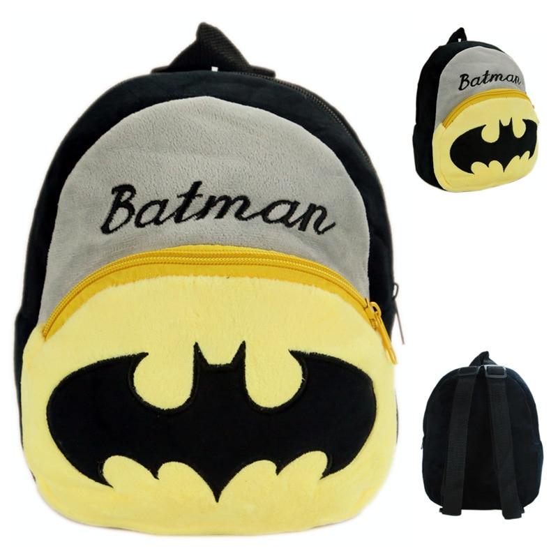 Дети Бэтмен Школьные ранцы прекрасный мультфильм Обувь для мальчиков рюкзак милый ребено ...
