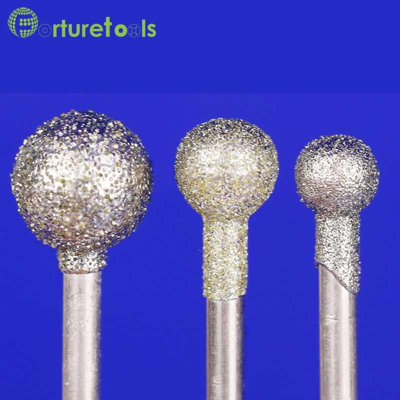 50 db gyémánt szerelt pont dremel forgószerszámra szerelt kerekek - Csiszolószerszámok - Fénykép 3