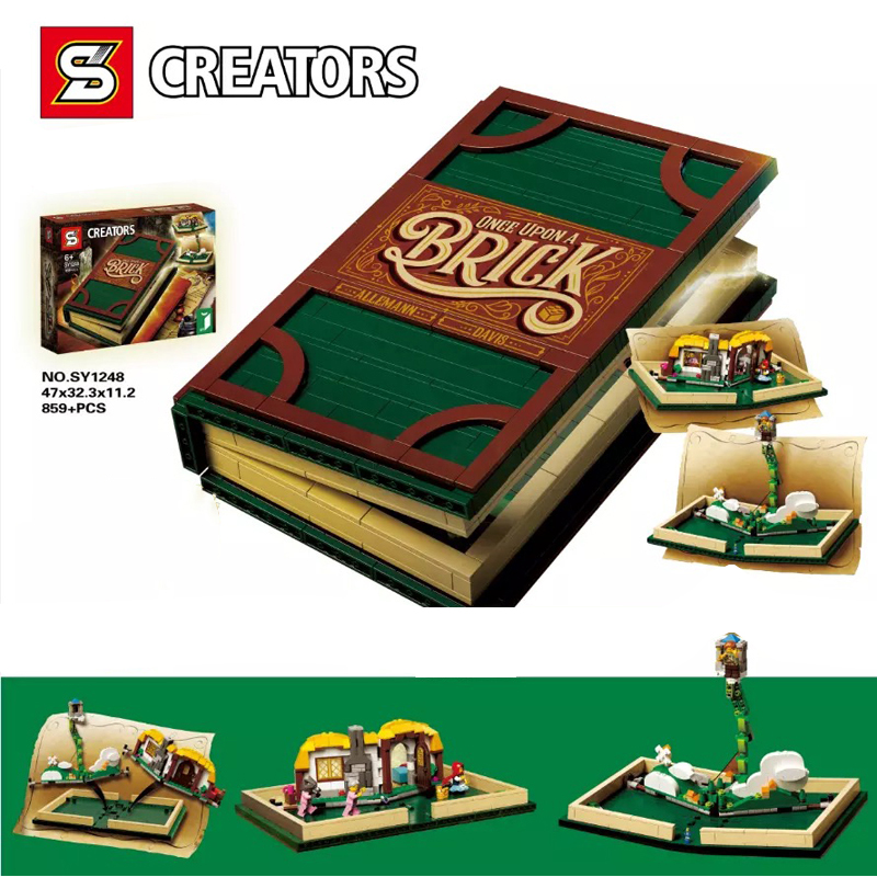 Idea Series Pop-up Book fit 21315 city girls Model Store book Building Blocks Bricks Educational diy Toys kid giftIdea Series Pop-up Book fit 21315 city girls Model Store book Building Blocks Bricks Educational diy Toys kid gift