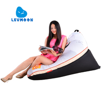 LEVMOON Beanbag Sofa Chair LI Pring Seat Zac Comfort Bean Bag Bed Cover Without Filling 100