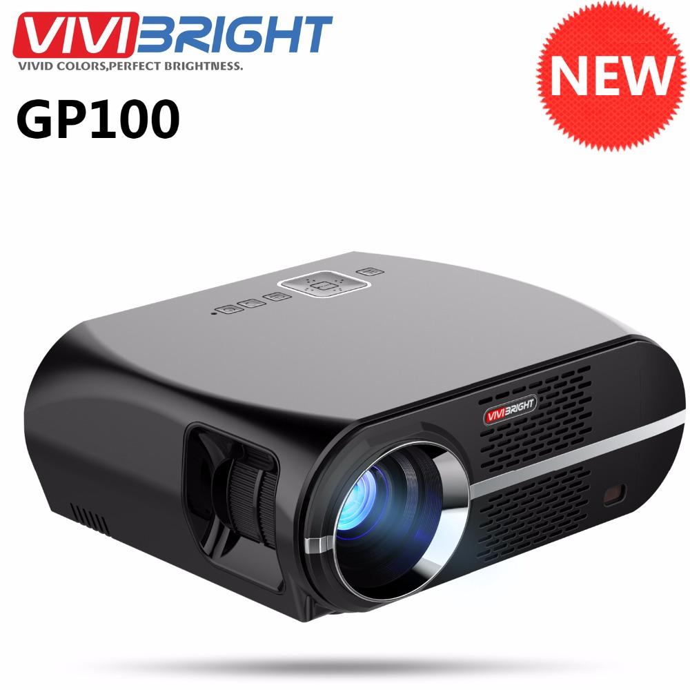 Led Projector 3500 Lumens Beamer 1280 800 Lcd Projector Tv: Original ViviBright GP100 Home Theater Projector 3500