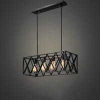 Современный промышленный подвесной светильник американский Лофт Винтаж кованого железа кулон клетка свет Эдисон лампа Обеденная
