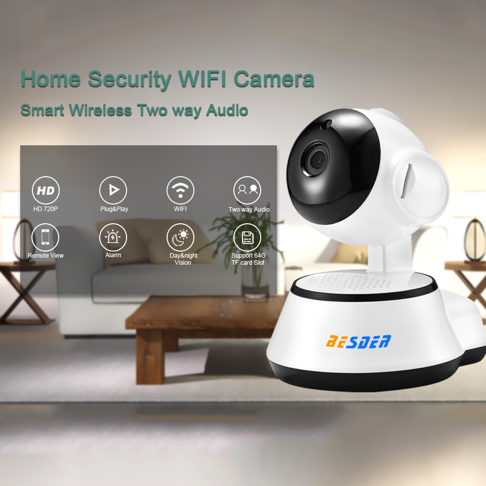 besder home security ip camera wireless smart wifi camera wi fi audio record surveillance baby. Black Bedroom Furniture Sets. Home Design Ideas