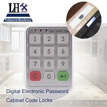 LHX Hardware Password Lock Digital Electronic Password Keypad Number Cabinet Code Locks Intelligent