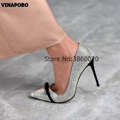 8e627311b7 Pompes En Femmes Haut Cristal Bout Bling noeud Cuir Mariage Papillon  Chaussures 12 The as Pointu Stiletto Picture Mariée Picture Partie As Cm Femme  Talons ...