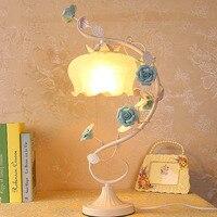 Сад Настольные лампы E27 современный простой Стекло настольные лампы 110 220 В сенсорный выключатель кнопку Таблица свет Luminarias