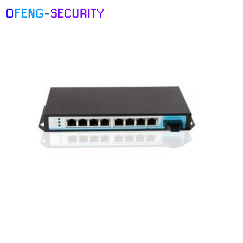 POE Switch  100M 8 Port POE Switch, 8 Port AF PoE Ports And 1 Single Fiber Uplink Bandwidth:1.8Gbps