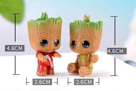 4 pièces/ensemble Marvel gardiens de la galaxie Avengers minuscule mignon bébé arbre homme modèle Figure jouets 5cm