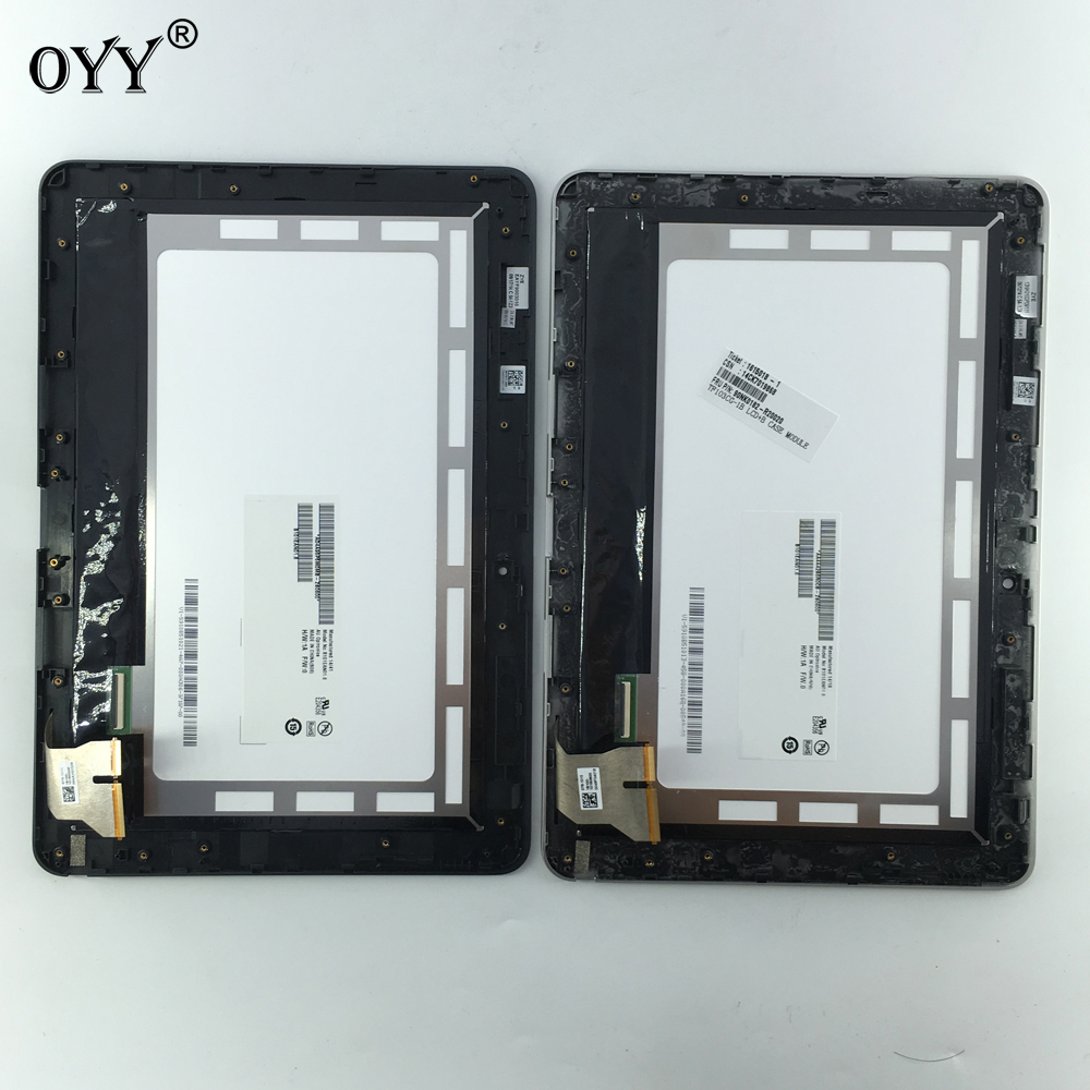 цена на LCD Display Touch Screen Digitizer Glass Panel Replacement parts with frame For ASUS Transformer Pad TF103 TF103CG K018