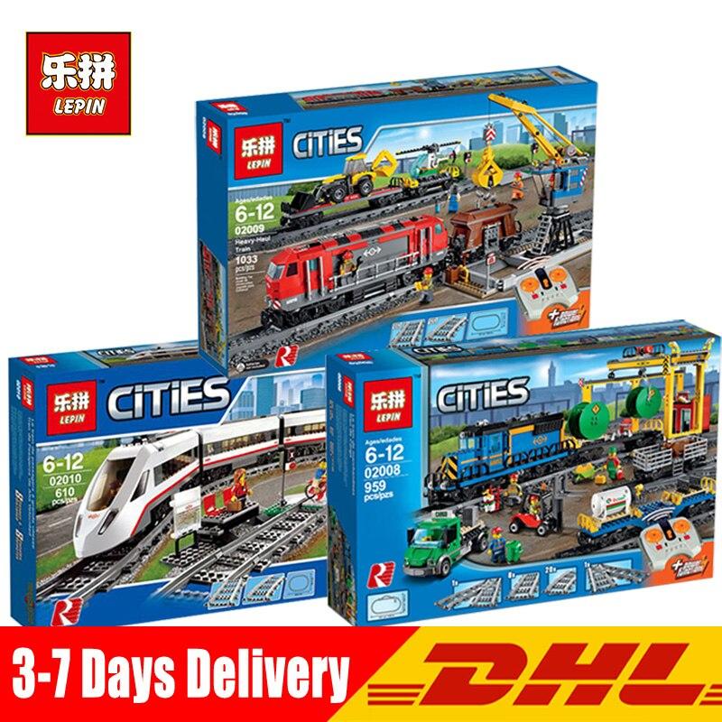 En Stock DHL educativos 02010 de 02008 de la ciudad en 02009 la serie Legoinglys 60051 de 60052, 60098 Control remoto tren bloques de construcción de ladrillo juguete