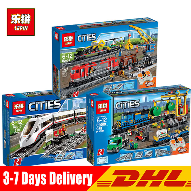 In Stock DHL Aosst 02010 02008 02009 City Series The Legoinglys 60051 60052 60098 Remote Control Train Building Blocks Brick Toy