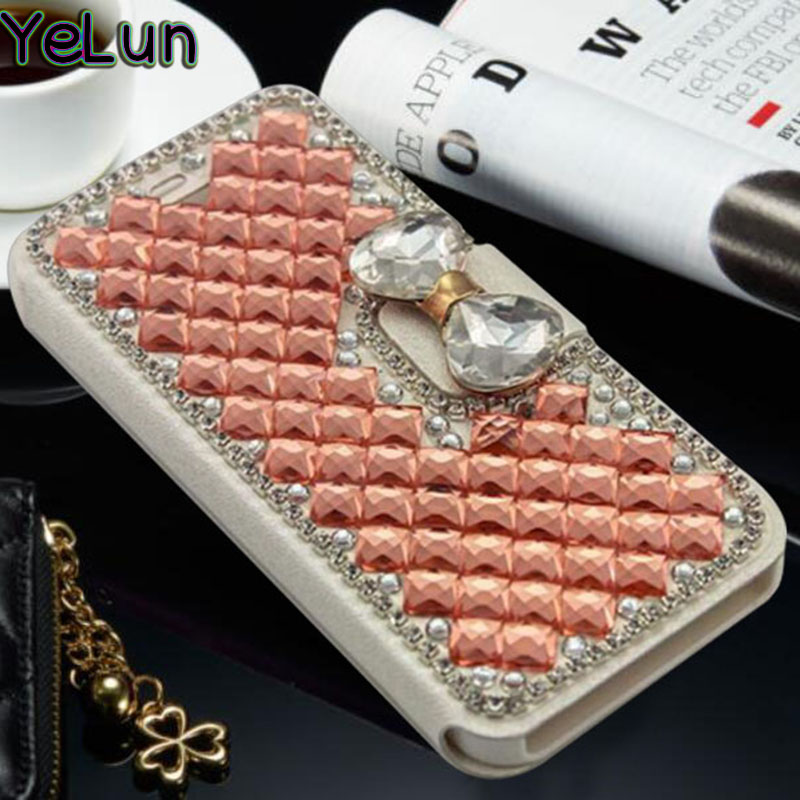 YeLun For Samsung M10 A50 A40 M20 A10 A30 A70 M30 Case Luxury Girl Woman Lady Flip Leather Wallet Diamond Bowknot Phone Cover image