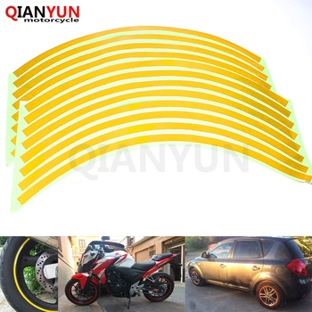 Motorcycle Styling Wheel Hub Tire Reflective Sticker Car Decorative Stripe Decal For HONDA MSX 125 MSX125 CBR 600 F3/F4/F4i image